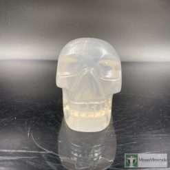 Gemmy rose quartz crystal skull