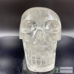 clear quartz crystal skull rainbows