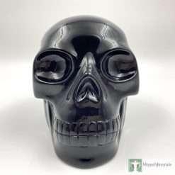 large black obsidian skull Walmere
