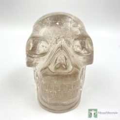 Smoky quartz crystal skull